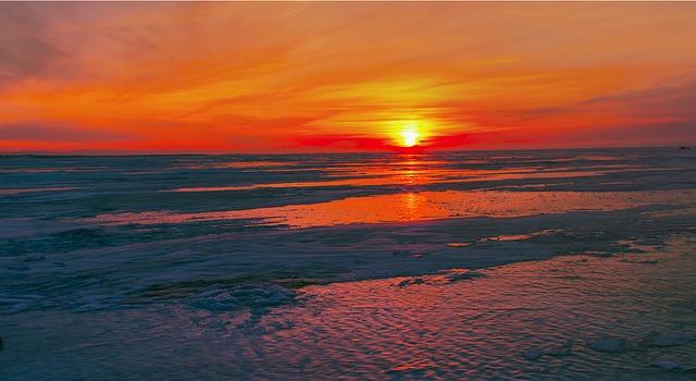 jezero Bajkal v zimě